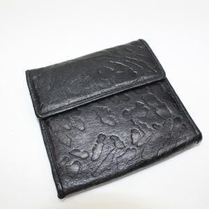 Vintage Genuine Leather Cheetah Design Wallet